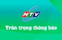 Truyền hình cáp HTVC trân trọng thông báo về thay đổi vị trí kênh trên gói Analog