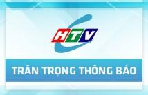 HTVC thông báo thay đổi vị trí kênh phát sóng